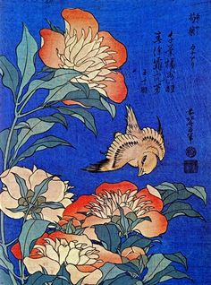 Flowers, Katsushika Hokusai - a needlepoint kit from The Silk Mill complete with all the silks.