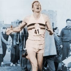 roger bannister - 1st man to break the 4 minute mile.