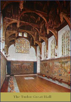 Hampton Court Palace. London. 1472-1530. Tudor. The Tudor Great Hall. Gorgeous... and they forgot one of Anne's ciphers... LOL