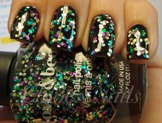 Forever 21 Mardi GRAS, layered over black