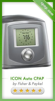 The built-in heated humidifier and optional heated hose delivers condensation-free humidification at the touch of a button. The ICON Auto is ideal for home or travel and comes with an alarm clock and music playing ability. Click on the image above for more information!