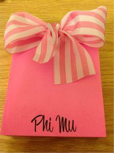 Phi Mu notepad