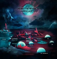 Veronica Rossi's UNDER THE NEVER SKY Landscape Map