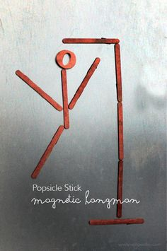 Make Popsicle Stick Magnetic Hangman | willowday