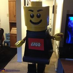 LEGO Man DIY Halloween Costume