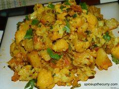 Aloo Gobi - potatoes with cauliflower