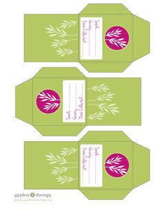 Free Printable Herb Seed Envelopes from Garden Therapy