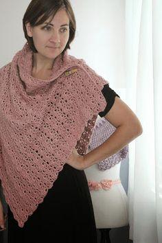 Love City: crochet love {shell stitch wrap}