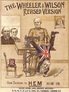 Wheeler & Wilson Advertisement in support of the British War in Africa