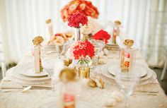 {décor inspiration   summer tablescapes : sequins & lucite} by {this is glamorous}, via Flickr