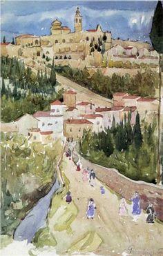 Assisi - Maurice Prendergast - Watercolor