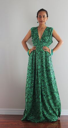 Boho Maxi Dress  - Long Green Dress : Oriental Secrets Collection on Etsy, $63.67 AUD