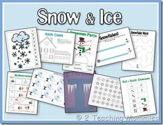 Snow and Ice and Winter Fun Preschool and tot packs.