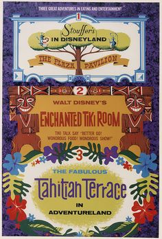 Vintage Disneyland Tiki Room Ad