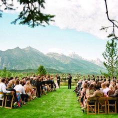 cool outdoor wedding