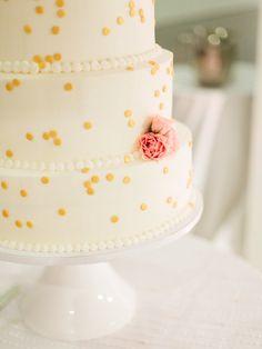 confetti dot cake | Photography: Jen And Jonah - jen-and-jonah.com/ wedding cakes, dot cake