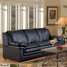 New black bonded leather sofa under $400!