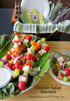 Chicken Salad Skewer