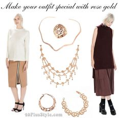how to make your outfit special with rose gold jewellery   40plusstyle.com