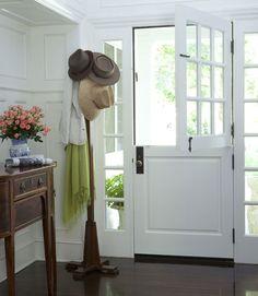 my next front door will be a dutch door.