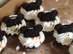 Mickey Mouse Cupcakes made with Oreos
