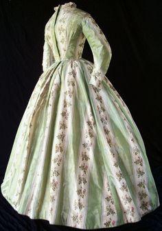 Warp-printed dress c.1864