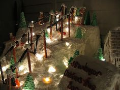 gingerbread ski slope