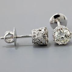 vintage diamond earrings!