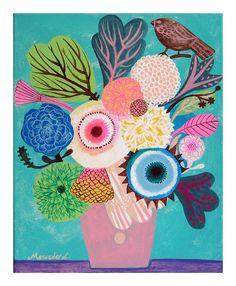 Flowers N.14 Print by @Katie Schmeltzer Schmeltzer Cartwright Garden, $15.00 #illustration #print #flowers