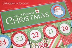 Free Printable Christmas Advent Calendar - Type in your treat details before printing. Super easy! LivingLocurto.com