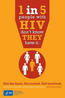 1 in 5 people with HIV don't know they have it.