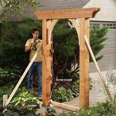 DIY Garden Arch (materials list/instructions)
