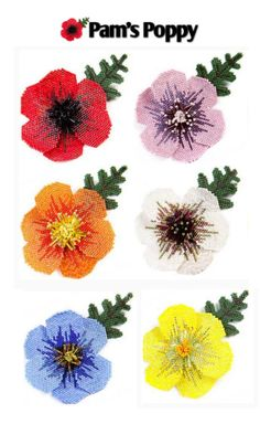 Pretty Poppies featured in Bead-Patterns.com recent Newsletter. Check out how to get the patterns!