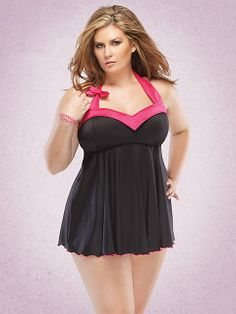 Sexy Valentines Day Lingerie for Plus Size Women - Code on original page for 25% discount 'til Feb 14th.