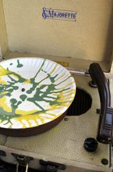A good use for an old record player!