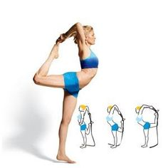 yesyoucan, fit, weight loss, yoga poses, healthi, women health, exercis, king dancer, workout