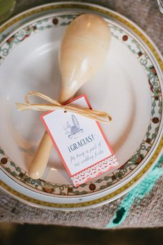 maracas wedding favor, photo by Inkspot Photography http://ruffledblog.com/mexican-ranch-wedding-ideas #cincodemayo #weddingideas