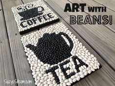 How to create cool art with beans!  Great kids craft!