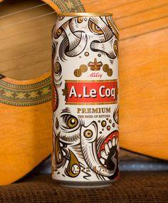 A. Le Coq Estonian Brewery - The Dieline -