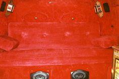 1978 Custom Chevy Van Interior Red by b9owner, via Flickr