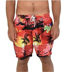 Red Sunset Mens Shorts - Super soft, light-weight and quick dry. Wear as casual - beach to bar ready! #mensshorts #hawaiianprint #cruise #springbreak #partyshorts #hawaiianshorts #mensshort #beachpartyshort #cruise #cruisewear #swimmingcarnival #sportsday #casual #skateshorts #partyoutfitsshort #sportsday #palms #palmsshorts #redshorts #quickdry #swimshorts #beach #cool #luau #beachboys