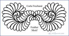 feather motif by carla barrett