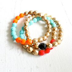Bead Bracelet Set by NestPrettyThingsShop