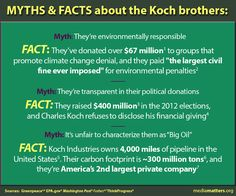 Myths And Facts About The Koch Brothers - more at the linked website