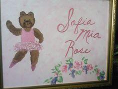 Ballerina bear canvas for nursery