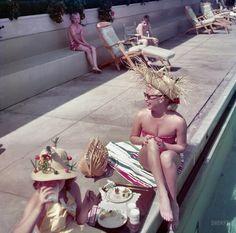 coral casino, santa barbara, milk, lana turner, daughters, 1950, pools