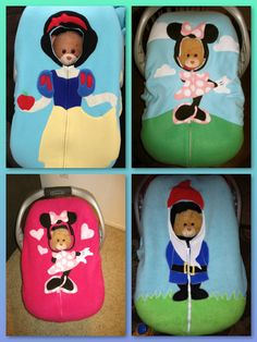 Pink Minnie Mouse Car Seat Snuggler (Fitted Cover). $63.00, via Etsy.