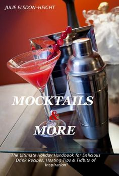 """Mocktails and More"" by @SoberJulie $8.99 -- Perfect for your holiday parties!"