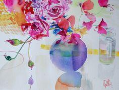 watercolour floral, vibrant flower, paul riley, botan watercolor, watercolor beauti, paint, riley artist, flowers, watercolour artist