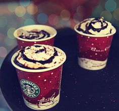 Starbucks Christmas drinks! <3